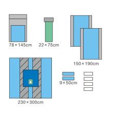 Conjunto de cortinas ortopédicas para extremidades