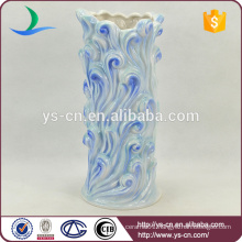 skyblue flowers pattern ceramic vase deco modern
