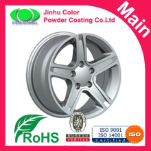Chrome effect car rim spray paint