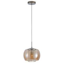 Luz colgante de vidrio colgante individual para interiores