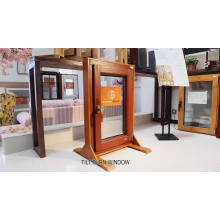 America NAMI Certified 2018 new arrival TEAK wood clad aluminum tilt and turn window for building