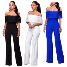Selling Woman Rompers and Jumpsuits Fashion Ladies Womens Wide Leg Jumpsuit