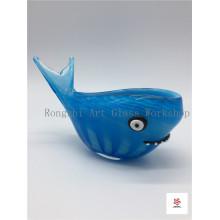 Beauitful Blue Whale Glass Sculpture