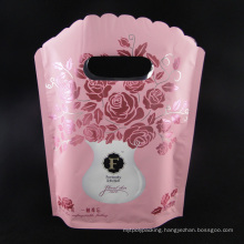 Vivid Printing Stand up Aluminum Foil Bag with Handle for Cosmetic (MS-AB027)