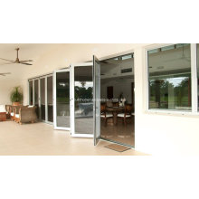 Energy Saving Low E Glass Folding Aluminum Doors