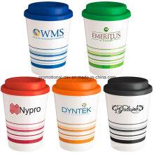 Werbe-gestreifte Kaffeetassen