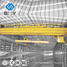 Grue électromagnétique de pont de double poutre d'usine en acier