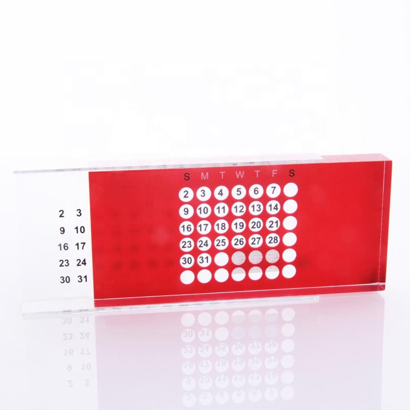 Lucite Colored Calendar