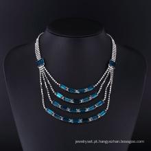 2016 clássico liga de zinco strass fantasia conjunto de colar de jóias