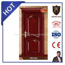 Diseño de puerta de madera sólida interior de alta calidad para puertas de hotel