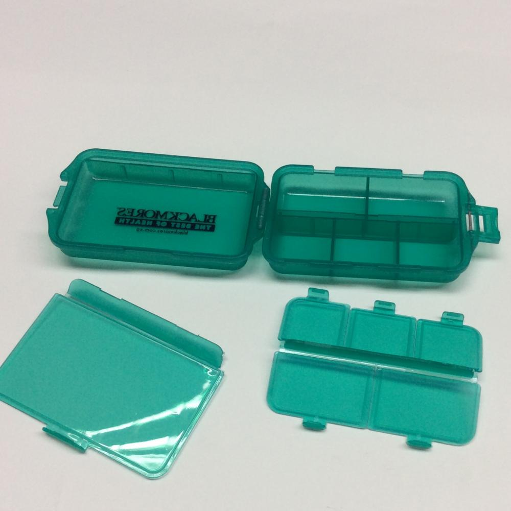 plastic portable double-layer pill case