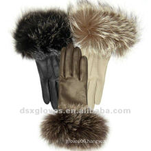 girls fashion dress leather gloves