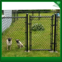 Round post chain link fence