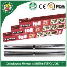 Haushalts-Aluminiumfolie-Rolle für Nahrungsmittelpaket