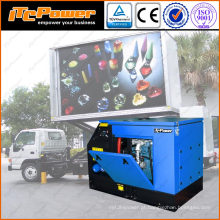 16kVA gerador diesel quieto super para a fonte de jiangsu dos caminhões da propaganda do móbil do diodo emissor de luz