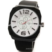 Relógio quente do wristband da borracha de silicone dos homens novos da chegada
