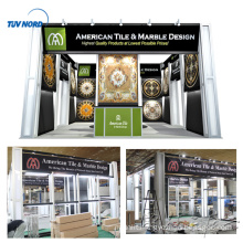 Detian Offer 20ft generous aluminium tube system display stand for trade show