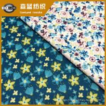 Tissu de spandex de polyester d'impression de fleur de vêtements de mode de Madame 18SS