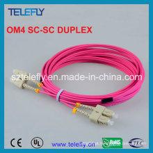 Sc Om4 Duplex Fibra Óptica Jumper, Jumper Cable