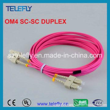 Sc Om4 Duplex Fiber Optic Jumper, Jumper Cable