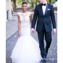 2017 Sexy Meerjungfrau Spitze Spitze offenen Hochzeitskleid