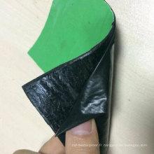 Membrane imperméable auto-adhésive renforcée par film de PE / HDPE / EVA de 4.0mm d'épaisseur pour le toit / garage / sous-sol / Underground / Underlay (OIN)