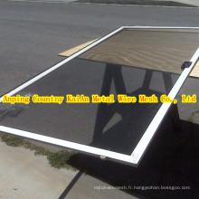 Mesh métallique en aluminium pour moustiques à écran de fenêtres et filtration anti-insectes / air ---- Pays Anping 30 ans d'usine