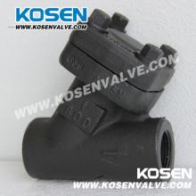 Кованые стальные Y типа обратный клапан (YH11)