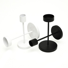 Metal Black Candle Holders for Taper Candles Candlestick Stand Modern HomeDecor Table Wedding Candleligh