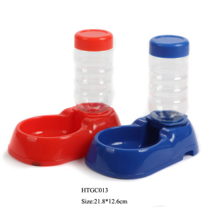 Pet drinker products plastic portable drinker bottle