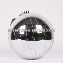 large silver christmas ball ornament