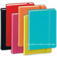 Assorted Color PU Leather Agenda Planner Notebooks with Elastic Strap