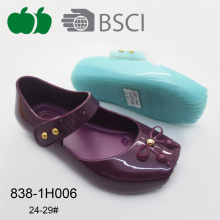 गर्म बेचने नई शैली पीवीसी जेली बच्चों चप्पल जूते