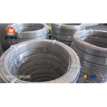 Aço inoxidável bobina tubos ASTM A269 TP316L, TP316Ti, TP321, TP347H, TP904L, Bright recozido, forma de bobina