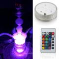 Hookah de vidro Shisha com luzes LED Mangueira de silicone sem capa de couro (ES-HS-001)
