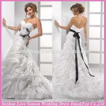 WD1209 горячая продажа свадебных нарядов из тафты съемный цветок и створки рябить тафты длинный шлейф пузырь классический викторианский свадебное платье