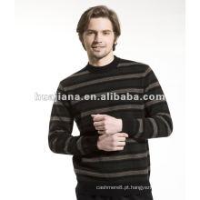 Camisola masculina de suéter de cashmere