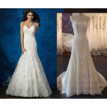 Ajuste y Flare Lace & Tulle vestido de novia