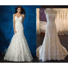 Fit и блики кружева и тюль свадебное платье