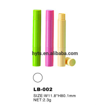 2.3g plastic mini lip balm container tubes