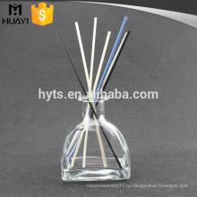 пустой прозрачный обработка шпоном Рид диффузор стеклянная бутылка