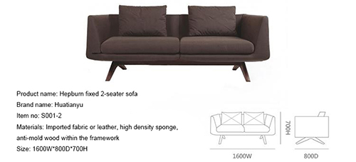 Hepburn Fixed 2 Seater Sofa