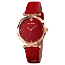 Skmei 1703 new design women watch leather quartz ladies wristwatches