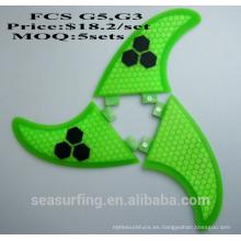 Aletas de fibra de carbono FCS G3 aleta de nido de abeja y fibra de vidrio