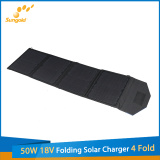 New Product 50W 18V Folding Solar Charger 4 Fold for Sale