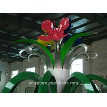 Escultura hermosa del jardín de la escultura de la flor de la escultura de arrabia para la venta