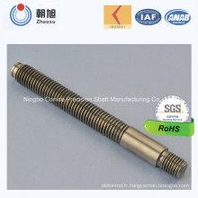 Arbre double diamètre en acier au carbone usine ISO pour pièces de moto