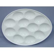 Plaque d'oeufs en porcelaine (CY-P12548)