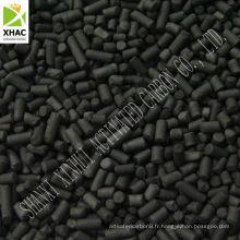 carbone cylindrique pour le traitement du gaz