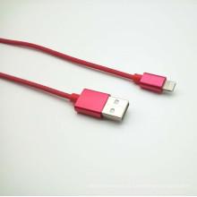 Malha de alta qualidade tecelagem cabo de dados USB para iPhone5